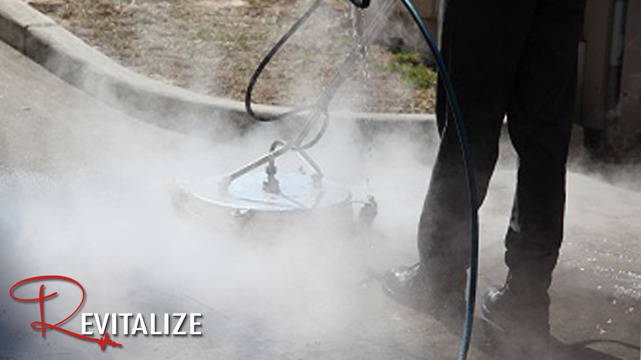 Hot Water Pressure Washing in Houston